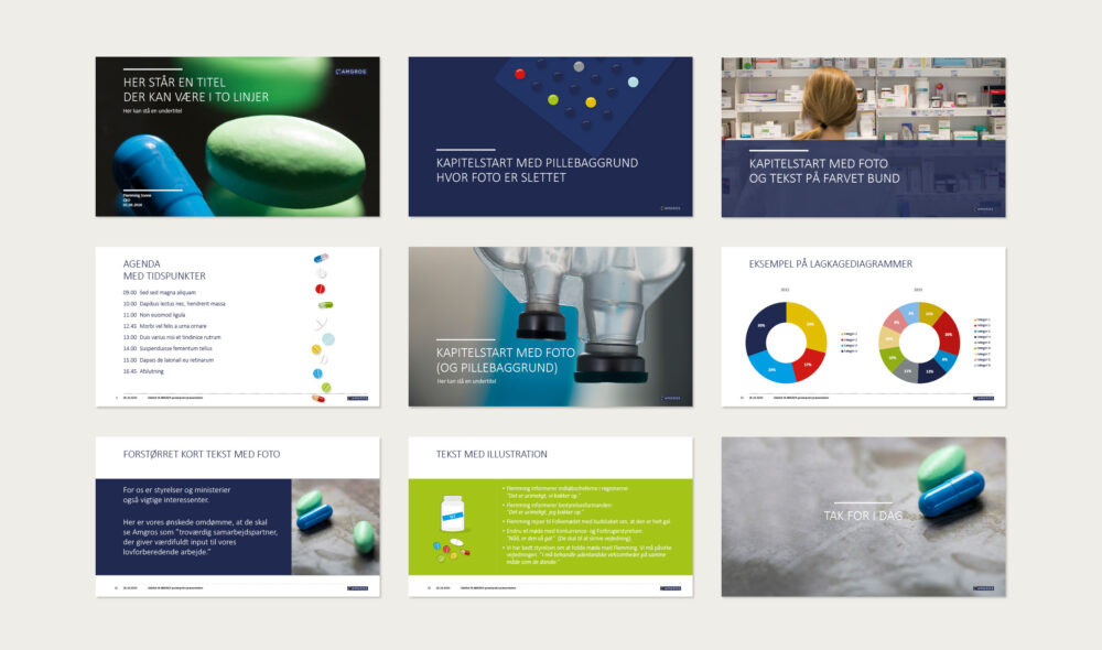 PowerPoint-skabelon for Amgros