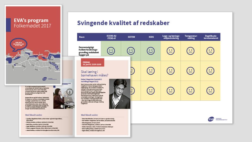 Design til Folkemødet for Danmarks Evalueringsinstitut