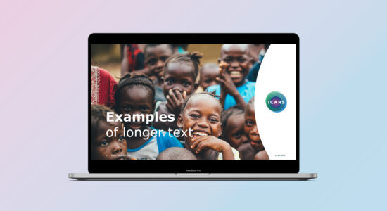 PowerPoint-skabelon til ICARS