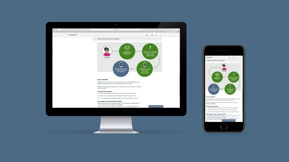 Infografikker på web og mobil til borger.dk for Digitaliseringsstyrelsen