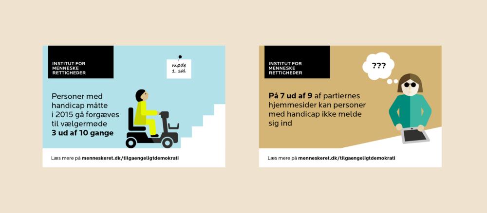 Infografikker til sociale medier for Institut for Menneskerettigheder