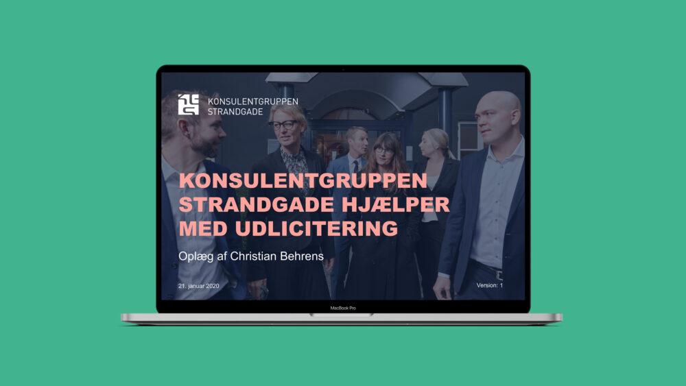 PowerPoint-skabelon for Konsulentgruppen Strandgade