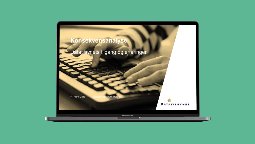 PowerPoint-skabelon for Datatilsynet