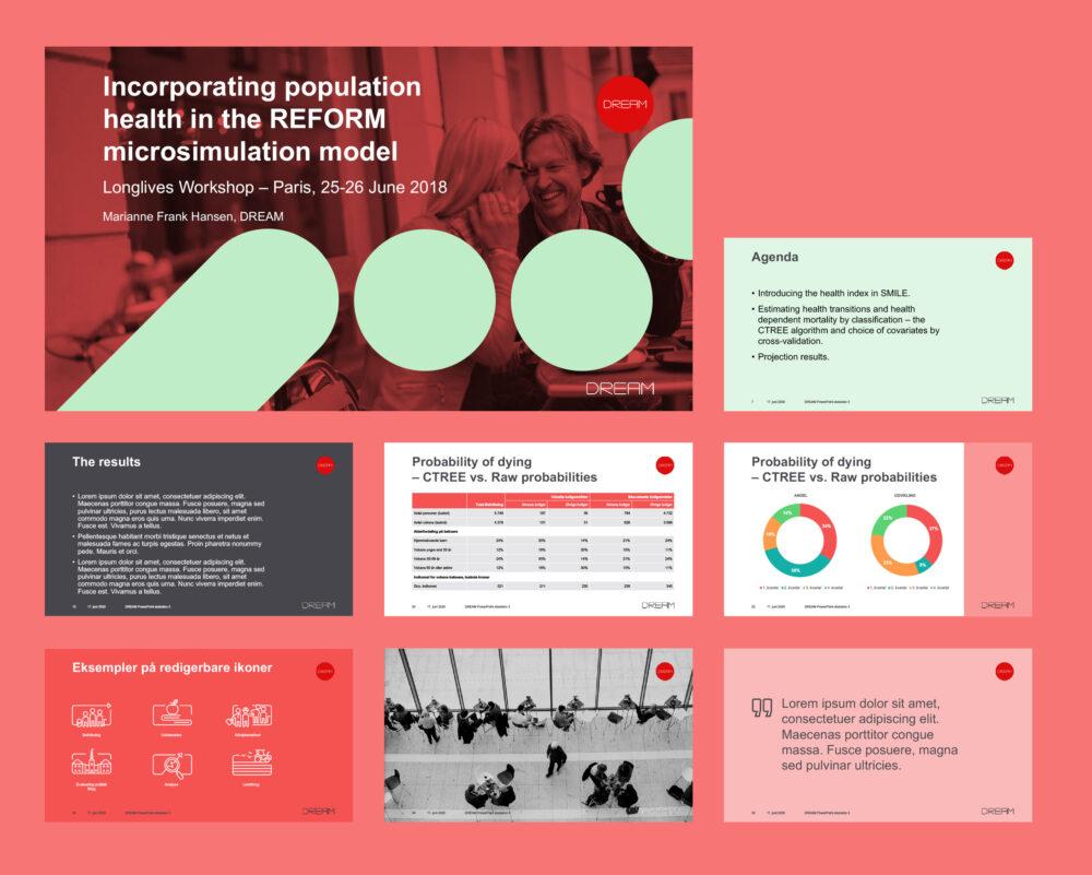 PowerPoint-skabelon for DREAM