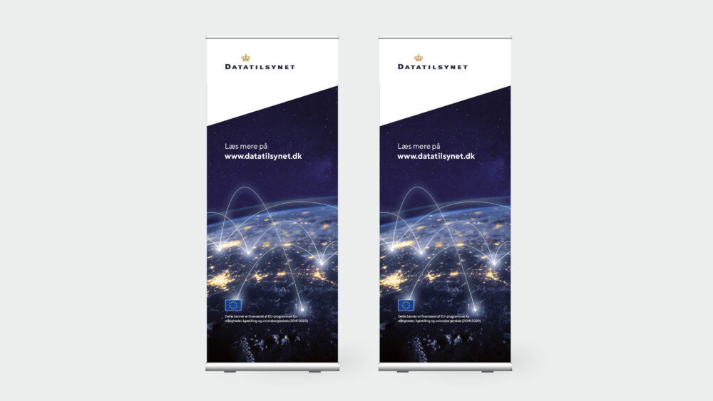 Roll-up-bannere for Datatilsynet