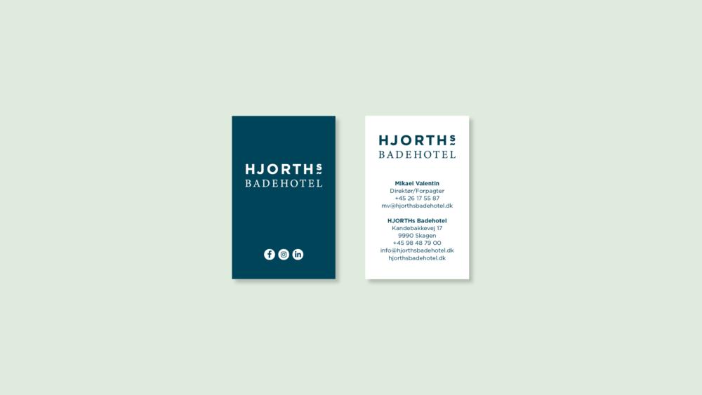 Visitkort for HJORTHs Badehotel