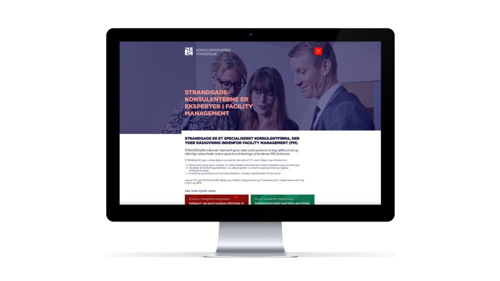 Webdesign for Konsulentgruppen Strandgade