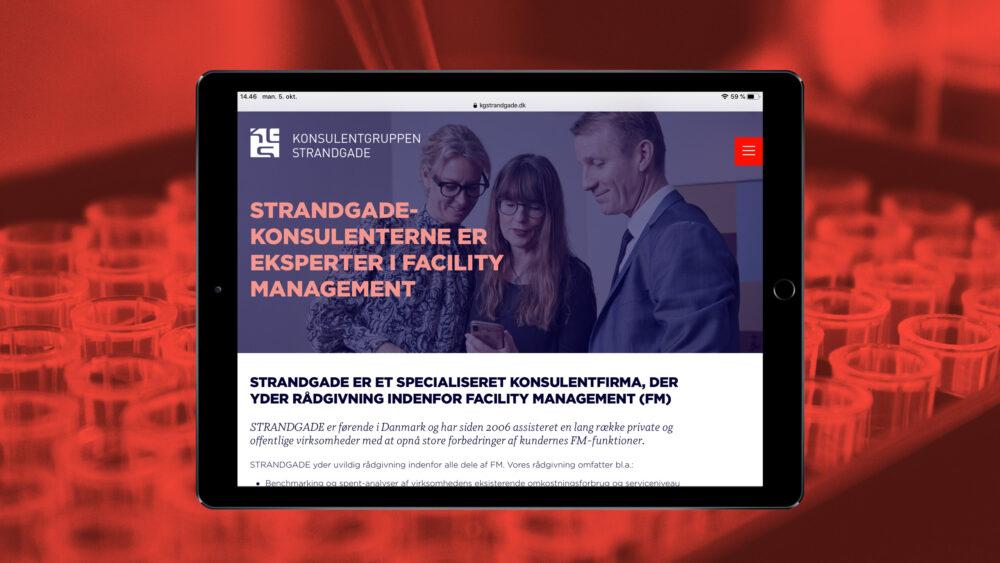 Responsivt webdesign for Konsulentgruppen Strandgade