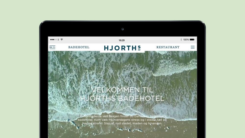 Lille_HJORTHs Badehotel_webdesign