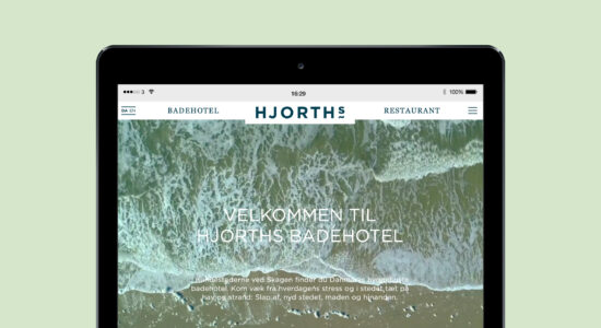 Webdesign for HJORTHs Badehotel