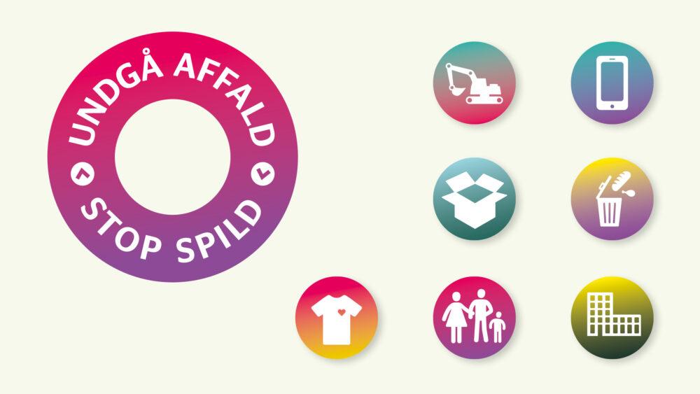 Logo, ikoner og infografik for Miljøstyrelsen