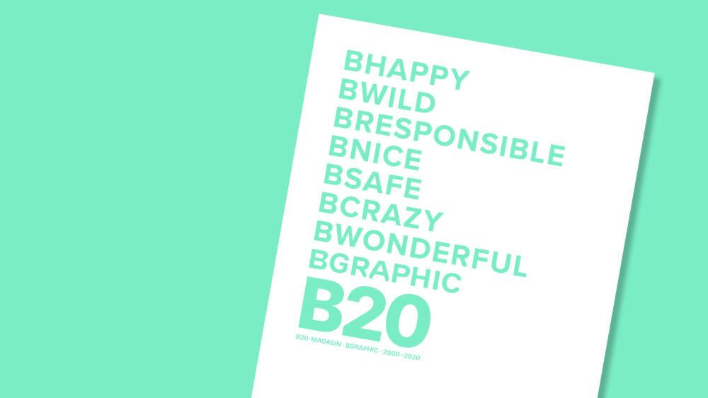 Download BGRAPHICs B20-MAGASIN, som udgives i anledning af firmaets 20-års jubilæum 1. oktober 2020