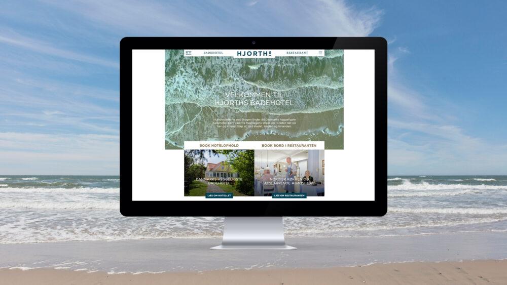 Visuel identitet og webdesign for HJORTHs Badehotel