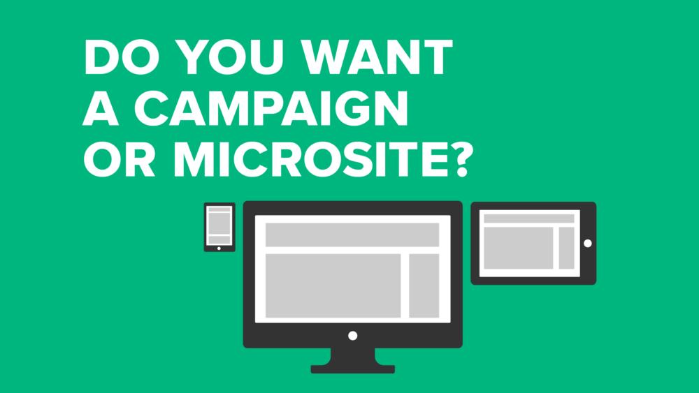 Skal du have et kampagne- eller mikrosite på den nemme måde?