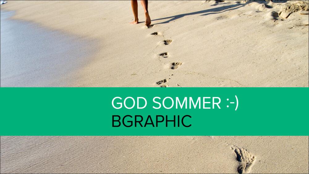 BGRAPHIC holder ferielukket – god sommer!