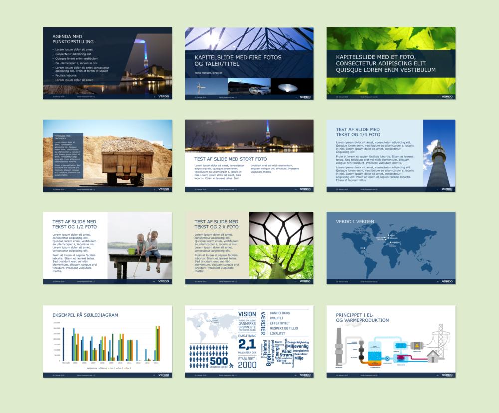 Slides i PowerPoint-skabelon for Verdo