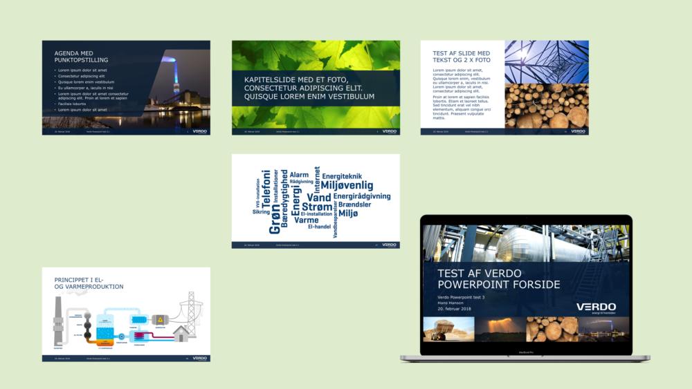 PowerPoint-skabelon for Verdo