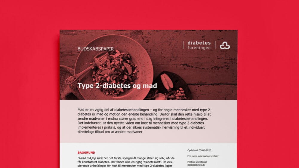 Skabelondesign for Diabetesforeningen