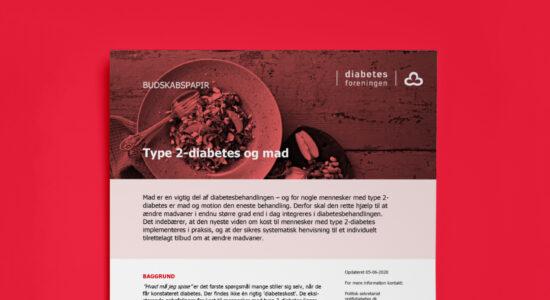 Skabelondesign for Diabetesforeningen