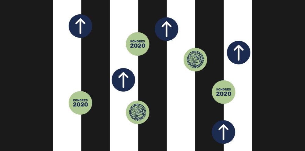 Danmarks Lærerforening Kongres 2020 indgang floor stickers mockup