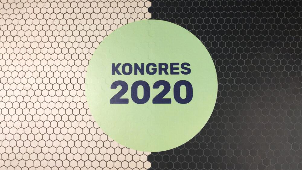 Danmarks Lærerforening Kongres 2020 floor sticker