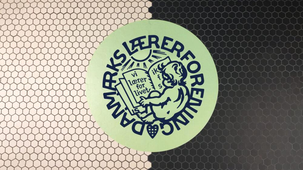Danmark Lærerforening Kongres 2020 logo floor sticker