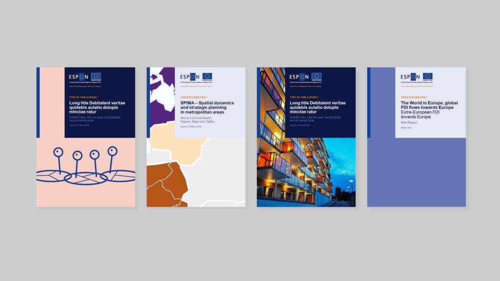 Publikationsdesign for ESPON