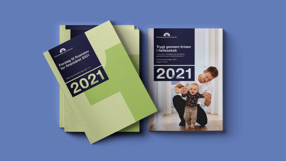 Finanslov og publikationsdesign for Finansministeriet
