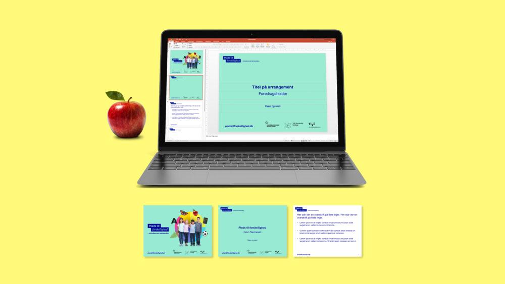 PowerPoint-skabelon til kampagne for VIVE