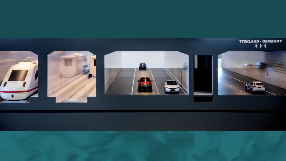 Udstilling om tunnelen under Femern Bælt – model