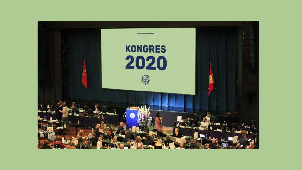 Danmarks Lærerforening Kongres 2020 salen med publikum