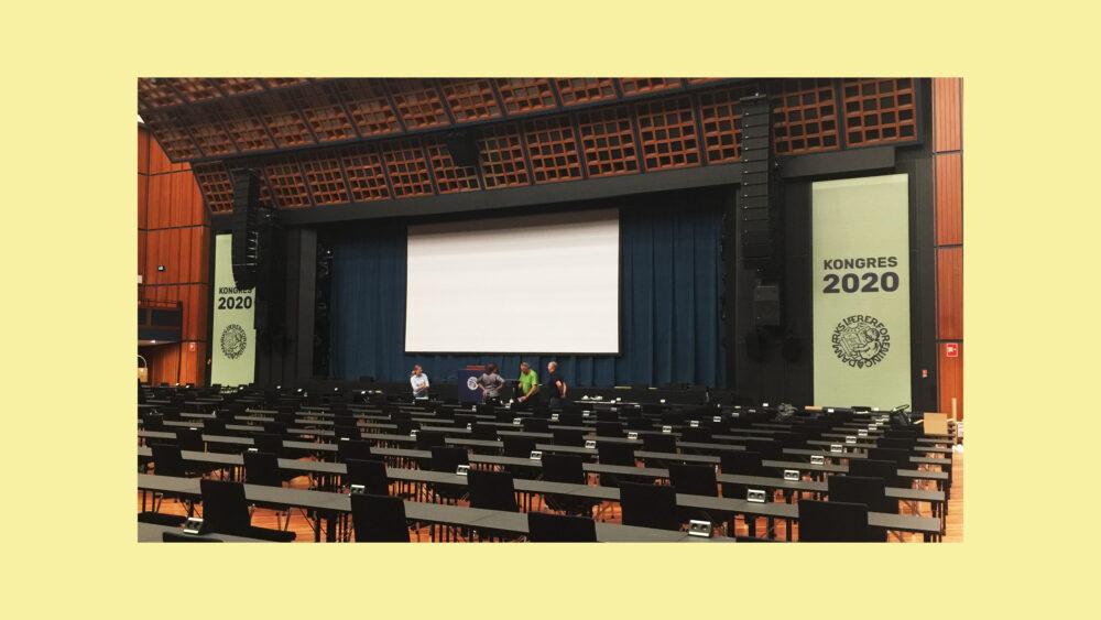 Danmarks Lærerforening Kongres 2020 salen